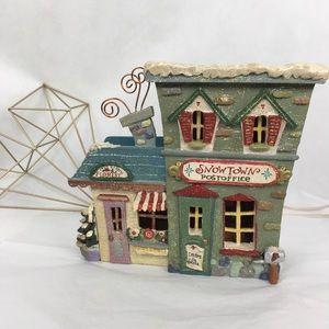 Lighted Kurt Adler Snowtown Post Office & Florist